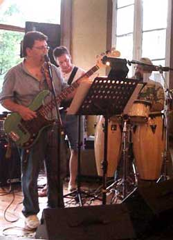 The Bluff-Tones perform at the Bank Bar on Schiller Street.