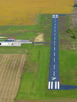 Hermann Municipal Airport runway