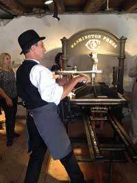Printing Press at Deutschheim State Historic Site