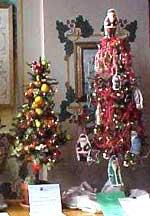 Miniature Christmas trees in Hermann Missouri