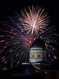 Fireworks in Hermann Missouri