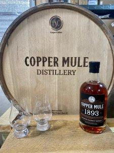 Copper Mule Distillery Barrel & Bottle