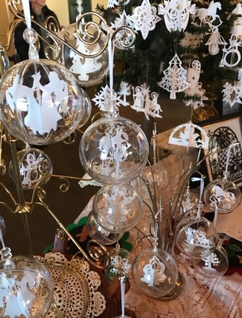 Christmas Ornaments at Christkindl Markt, Hermannhof Festhalle